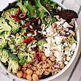 Greek Salad With Broccoli and Chickpeas