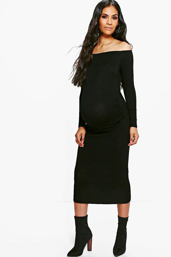 Boohoo Maternity Olivia Midi Dress