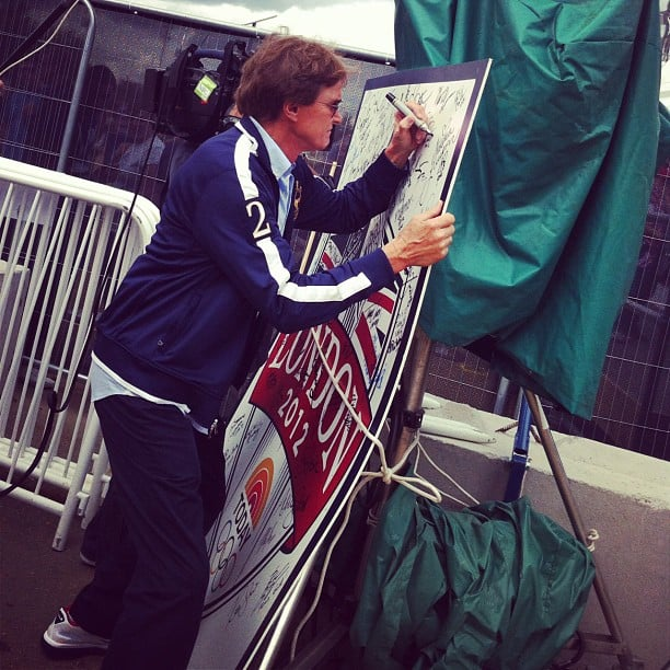 Bruce Jenner added his signature to Today's Olympic guest book. Source: Instagram user ian_sager