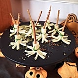 Simple and adorable, these witches' broomstick snacks will be a party favorite.