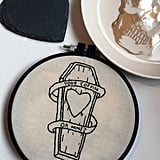 """Coffin embroidery ($27) is one way to say """"I love you"""" this Halloween."""