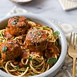 Courgette Noodles With Meatballs