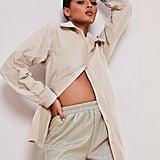 Sofia Richie x Missguided Silver Metallic Runner Shorts