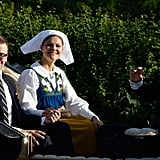 Princess Victoria and her husband, Prince Daniel, held hands.