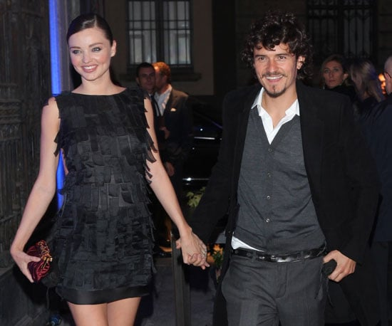 Slide Picture of Orlando Bloom and Miranda Kerr in Milan