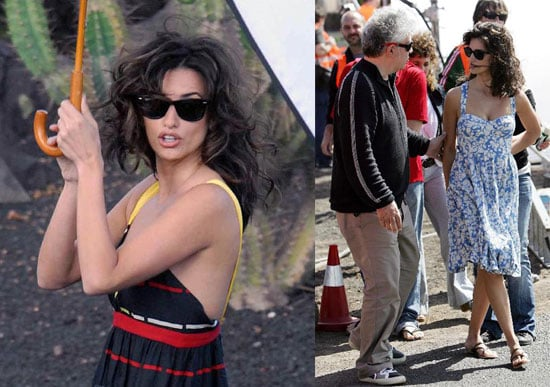 Photos of Penelope Cruz and Pedro Almodovar on the Set of Broken Embraces in Spain