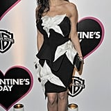 Black and white, cheeky-chic for the European Valentine's Day premiere.