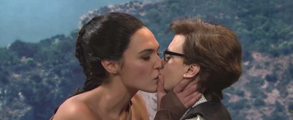 Gal Gadot and Kate McKinnon Kiss on SNL