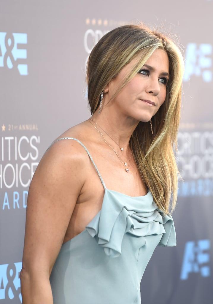 Jennifer Aniston Critics Choice Awards Jewelry And