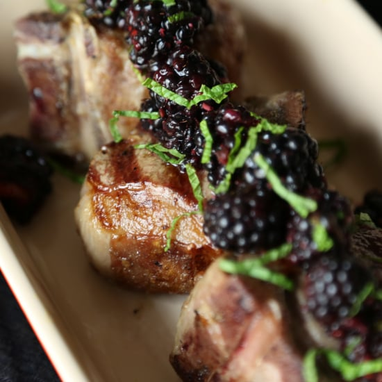 Grilled Lamb With Blackberry Sauce