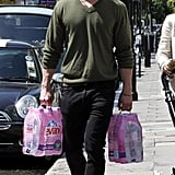 Chris Hemsworth carried water in London.
