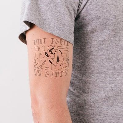 Sherlock Temporary Tattoo