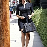 Jennifer Garner headed to a breakfast meeting in Brentwood.