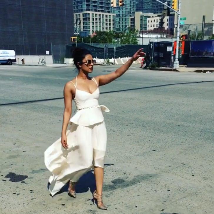 Priyanka Chopra Wearing White Dress in New York City