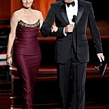 Tina Fey and Jon Hamm at the 2012 Emmy Awards