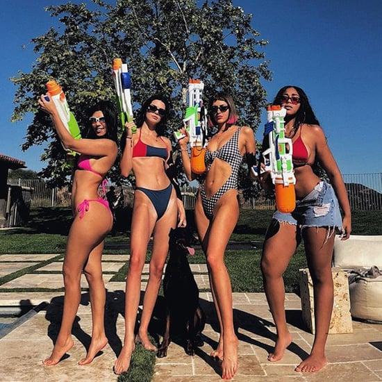 Kourtney Kardashian's Pink Triangle Bikini