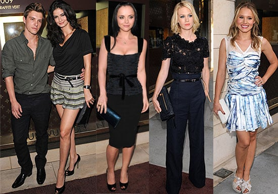Pictures of Xavier Samuel And His Girlfriend Shermine Shahrivar At Louis Vuitton Cocktail Party With Kristen Bell, January Jones