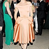 Juliette Lewis wore an orange frock. Source: Billy Farrell/BFANYC.com