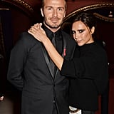 Victoria kept David close at the British Fashion Awards in December 2014.