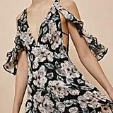 Topshop Floral Cold Shoulder Maxi Dress