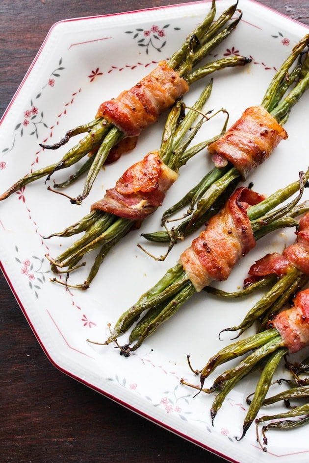 Honey Mustard Bacon Wrapped Green Beans