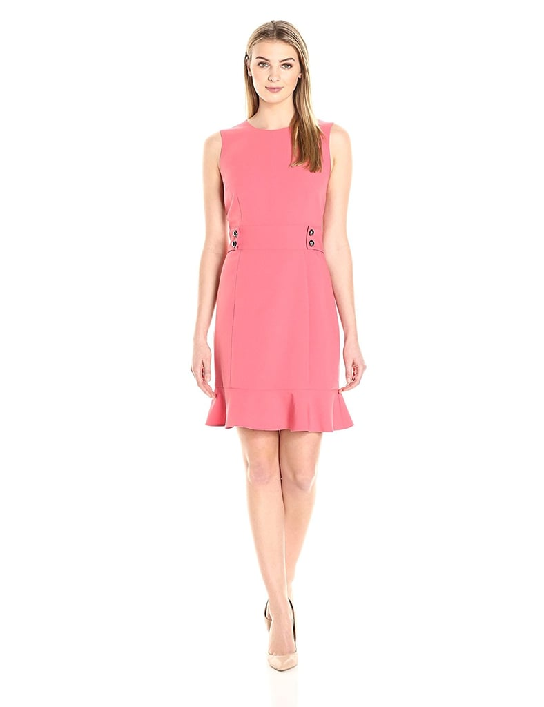 Lark & Ro Women's Sleeveless Side Button Dress