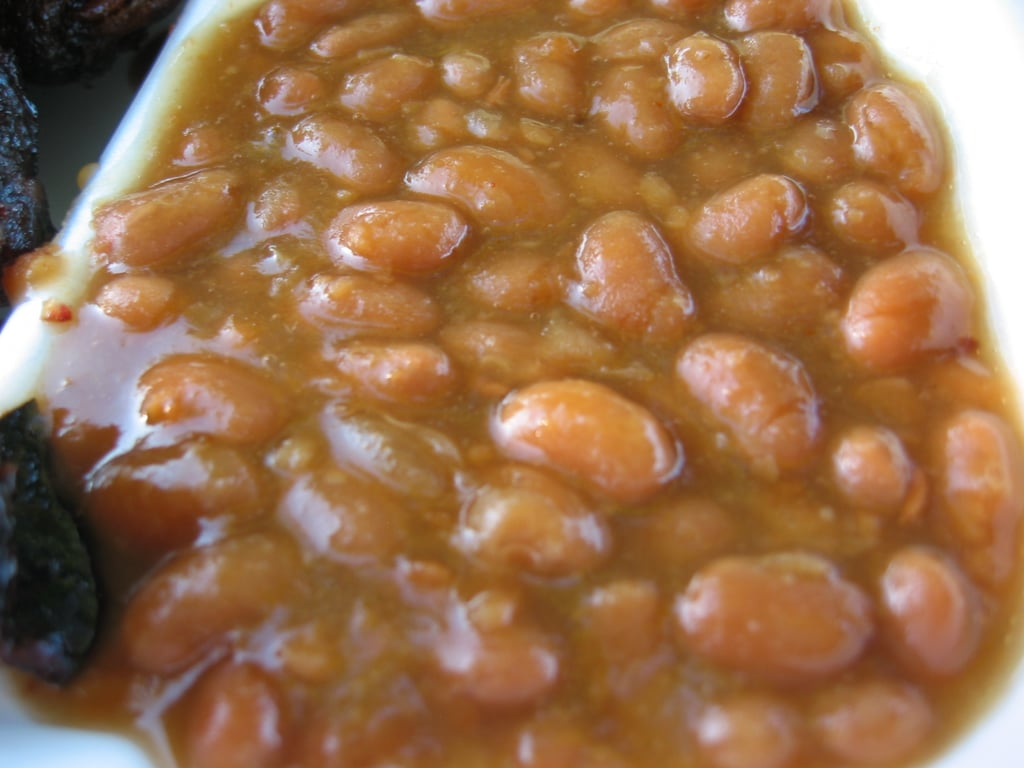 The beans arrived basking in a sauce that was both smoky and sweet.