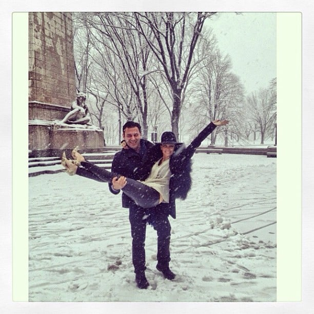 Nicole Richie played in the snow with a pal. Source: Instagram user nicolerichie