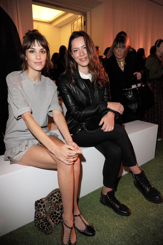 Alexa Chung and Rebecca Hall took front row seats at London Fashion Week's Mulberry show.