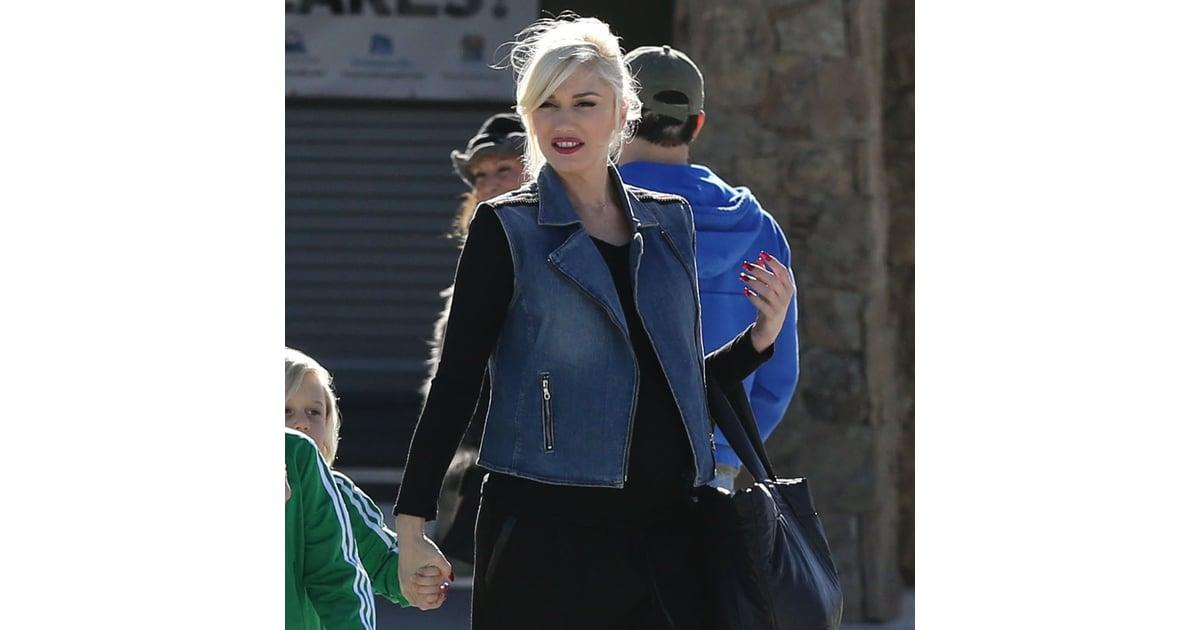 8e7aefb7f1f Gwen Stefani s Denim Vest Outfit