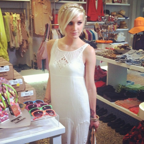 Ashlee Simpson attended a party in LA.  Source: Instagram user popsugar