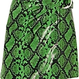 Stand Studio + Pernille Teisbaek Kaya Snake-Effect Faux Leather Wrap Mini Skirt ($435.50)