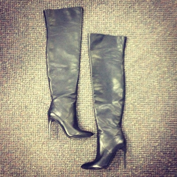 Alison's very special Alexander Wang boots made an appearance in the office; naturally a five-minute photo shoot ensued.