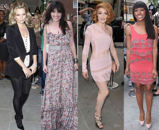 Pictures of Kate Moss at Topshop Knightsbridge Opening and Afterparty with Daisy Lowe, Nicola Roberts, Alexandra Burke, 2010-05-20 01:00:00