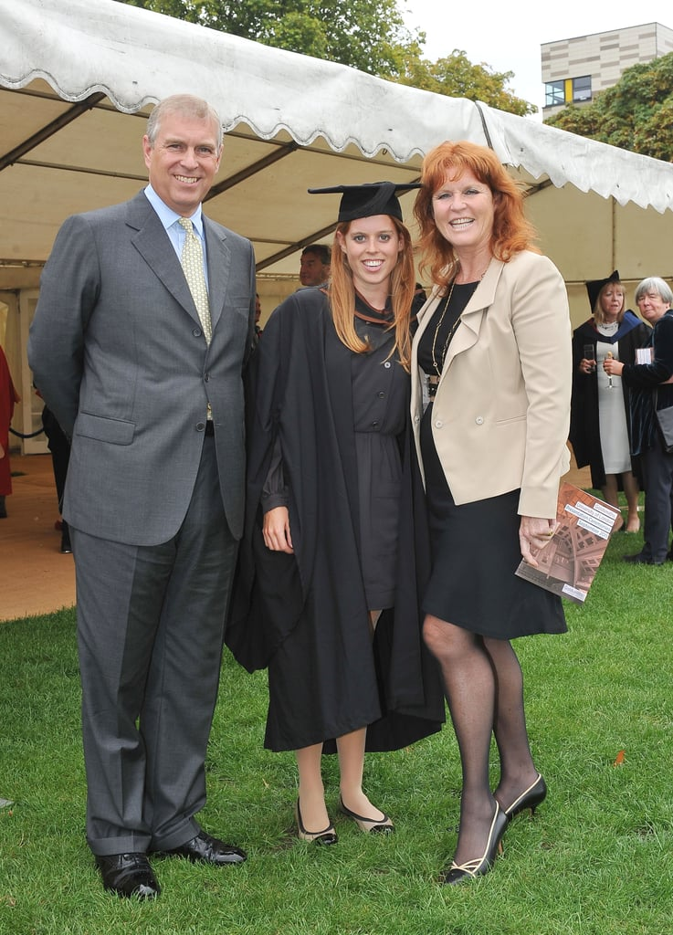 """Princess Beatrice graduated from Goldsmiths College today in London with an honor bachelor's degree in history and the history of ideas! Her proud mom Sarah Ferguson was on hand for the special event, as was her father Prince Andrew. There was time for a rare family photo op featuring Andrew and Fergie, who are still close despite their 1996 divorce. In a press release, Beatrice spoke about her time at school. She said, """"I have had the most amazing university experience. Goldsmiths College is a wonderful place to study. I am so lucky to have had the support of the incredible tutors and staff. I am so excited about my results. I wish everyone graduating today congratulations as well."""" Next up for Beatrice will be a series of internships designed to her her gain knowledge and experience that will help her be a productive member of the royal family."""