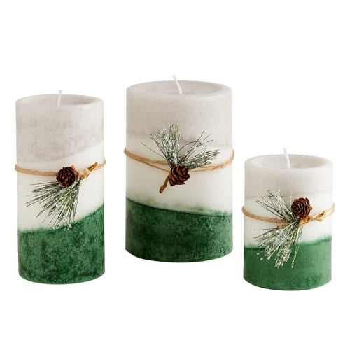 Layered Pillar Candle