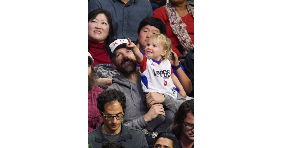 Jason Sudeikis and Son Otis at Clippers Game January 2016 ...