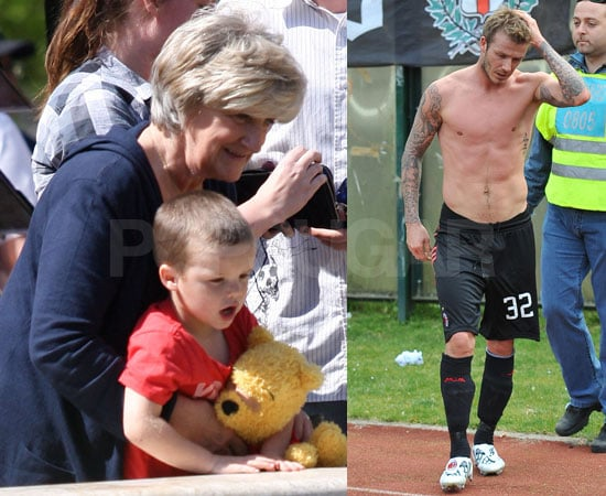 Cruz Beckham Plays With His Grandparents