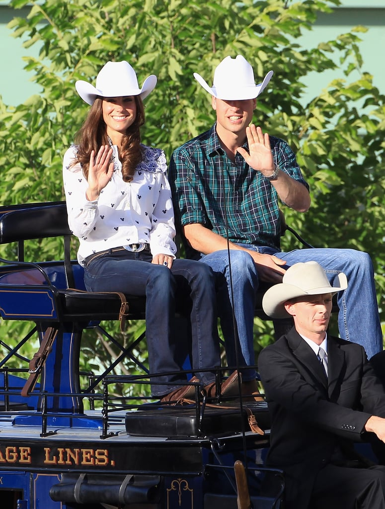 Kate Middleton and Prince William were transformed into cowpokes during a July 2011 stop in Calgary, Canada.