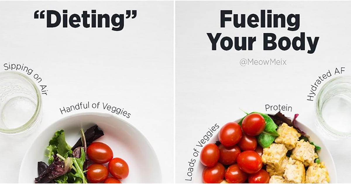 You May Laugh at the Photo on the Left, but Seriously, Don't Make This Dieting Mistake