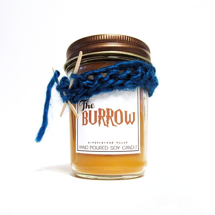 The Burrow candle ($12) with scrumptious gingerbread notes