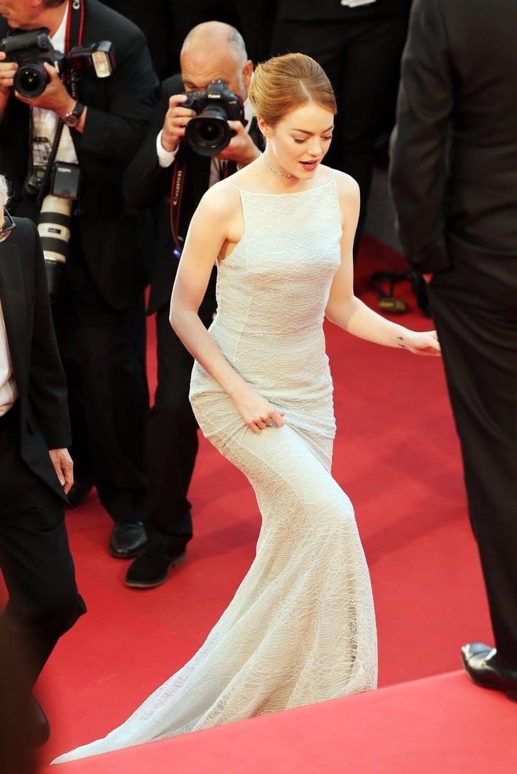 Emma Stone S White Dress At Cannes Film Festival 2015
