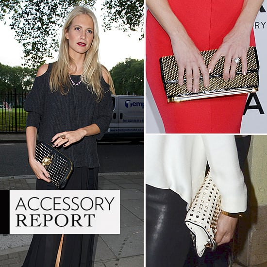 Celebrities Love Studded Clutch Bags: Poppy Delevingne, Olivia Palermo, Kate Hudson + More Carry The Trend!