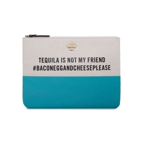 Kate Spade's Tequila Is Not My Friend Gia Pouch ($78) is a fun, cheeky option for your partner in crime.
