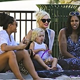 Gwen Stefani and Zuma Rossdale snuggled at the park.