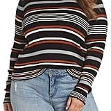 BP. Lettuce Edge Ribbed Stripe Sweater