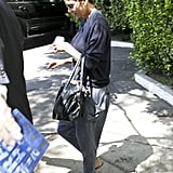 Pregnant Halle Berry ran errands in LA.