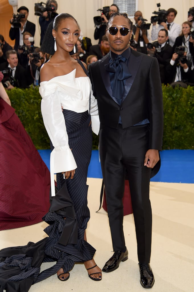 Jourdan posed on the red carpet with Future.