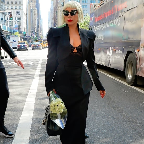 Lady Gaga Black Dress With Cutout in NYC