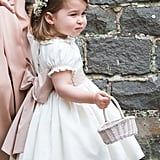Just when we didn't think Princess Charlotte could get any cuter, she wore a little white dress and flower crown at Pippa Middleton's wedding in 2017.